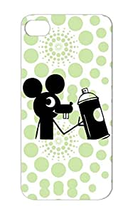 Shatterproof Black Graffiti Mouse Stencil Banksy Street Art Art Design Spray Can Graffiti Mice Character Cartoon For Iphone 5s Case Cover