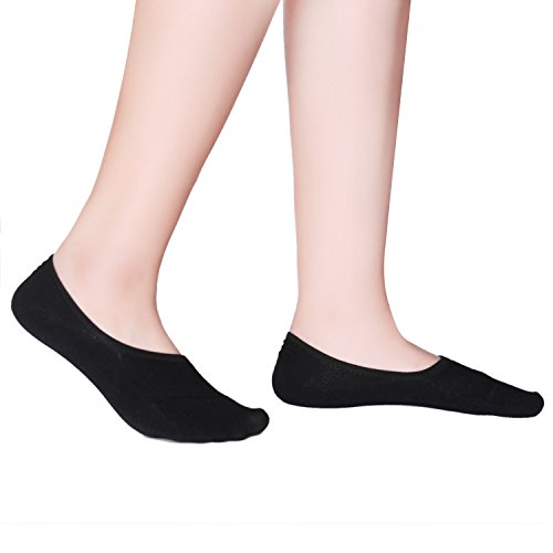 6 Pack Women Ankle Boat Liner Invisible No Show Cotton Socks for Flat Loafer