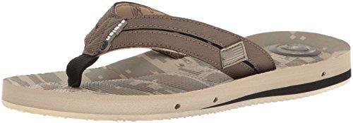 cobian Men's Sawman Draino Flip Flop, Desert Camo, 12 M US