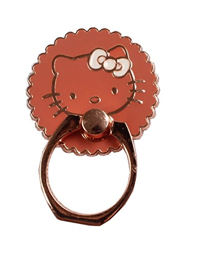 Phone Ring - Hello Kitty Cat Super Cute Round Phone Stand Universal (Rose Gold)