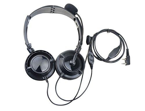 WDCG 1pcs Foldable Overhead Noise Cancelling Headset Earpiec