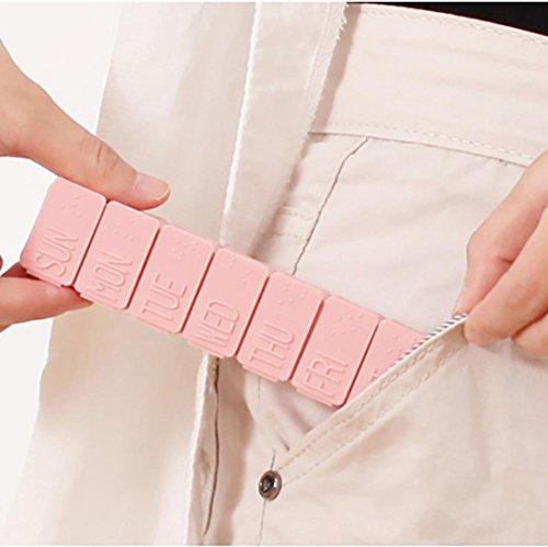 YJYdada Day Weekly Pill Medicine Box Storage Organizer Case