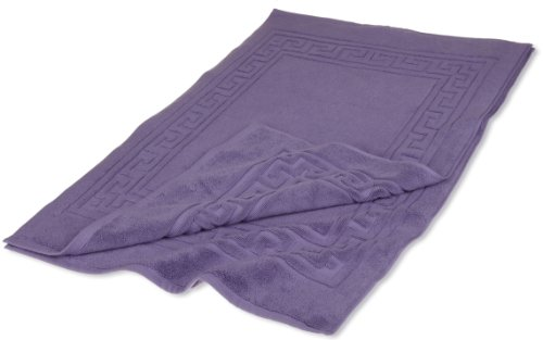 Superior Hotel & Spa Quality Bath Mat Set of 2, Made of 100% Premium Long-Staple Combed Cotton, Durable and Washable Bathroom Mat 2-Pack - Royal Purple, 22 x 35 each