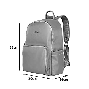 Baby Change Diaper Bag Pu Leather Backpack Multi-Function Waterproof Replacement Bag Thick Shoulder Strap Comfortable…