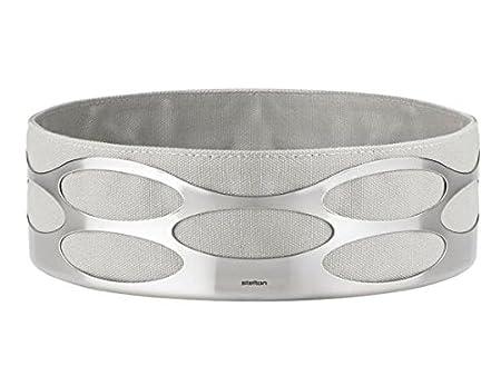 Taupe Stelton X-28-3-4/Embrace Bol /à pain 23/x 23/x 7/cm acier inoxydable et sac /à pain en coton