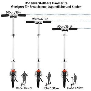 Laiozyen Big Wheel Scooter – Trottinette de Ville Pliable réglable en Hauteur pour Adultes et Enfants jusqu'à 100 kg, Color2