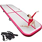 FBSPORT 4 inches Thickness airtrack, 9.84ft Tumble Track air mat for Gymnastics Training/Home Use/Cheerleading/Yoga/Water with Electric Pump