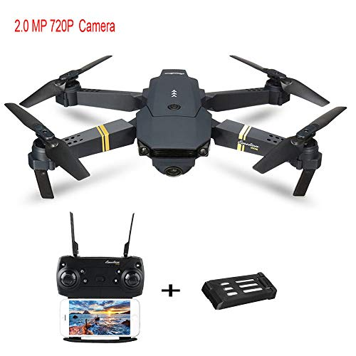 Iusun Quadcopter Drones L800 2MP W/ 720P Camera WIFI FPV Foldable Selfie Drone RC Quadcopter RTF/3.7V 500mAh Lipo Battery Flying Toys Beginner RC Helicopter Gifts- Ship From USA (A-Wide Angle)
