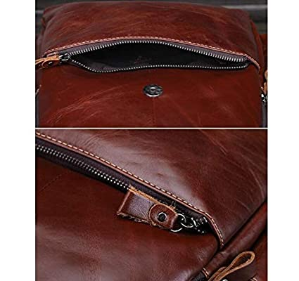Amazon.com: WSZMD Business Laptop Backpack Notebook Rucksack mochilas de Cuero de vaca genuino para las Mujeres de Gran capacidad de La Vendimia Exquisita ...