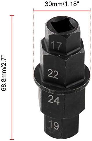 24mm Basage Motorcycles Hex Axle Tool 19Mm 17Mm Hexagon Front Wheel Hub Axle Spindle Socket Tool 3//8 Inch 22Mm