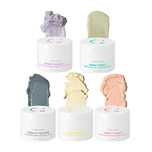 - I DEW CARE Mini Magic Clay Mask Set 5ea, Pore-detoxifying jelly clay mask, Wash-off mask, Facial healing mask, Mud mask kit, Colorful mini mask