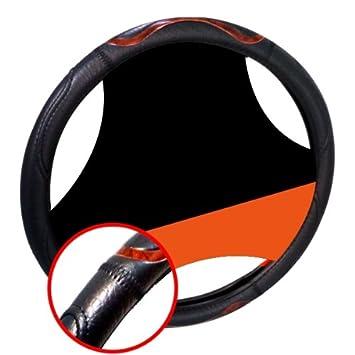 LB259C - Cubierta del volante del coche protector de la rueda de dirección Negro con diseño de madera de la mirada: Amazon.es: Coche y moto