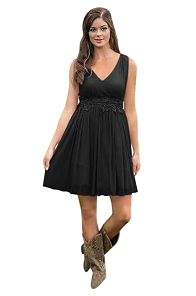 Yangprom Country Bridesmaid Dress Plus Size Short Western ...