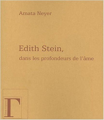 Livres gratuits Edith stein dans les profondeurs de l'âme epub pdf