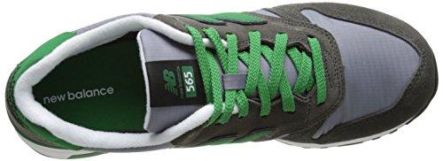 New Balance Rip-Stop Mesh 565 - Zapatillas para hombre Gris (Grey with Light Grey & Green)