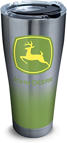 - Tervis 1290655 John Deere - Ombre Insulated Tumbler, 30 oz Stainless Steel, Silver