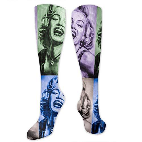 Novelty Colorful Marilyn Monroe Socks Crew Socks For