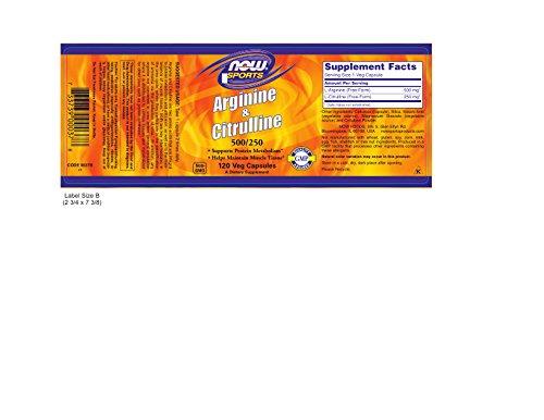 Now Foods Arginine & Citrulline Veg Capsules by Now Sports