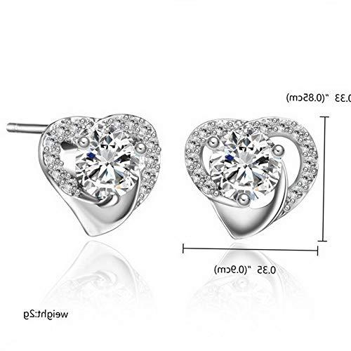 Tomikko Fashion Geometric Crystal Zircon Ear Stud Earrings Women Crystal Jewelry Gift | Model ERRNGS - 12112 | ()