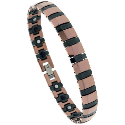 Tungsten Ceramic Bracelet Magnetic Rectangular