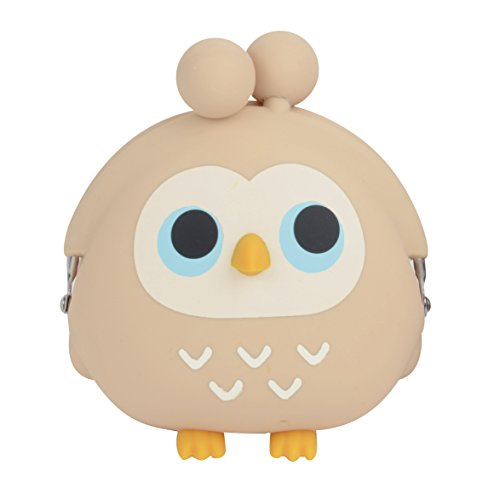 3D Pochi Friends Owl Silicone Coin Purse (Beige) by P+G Design