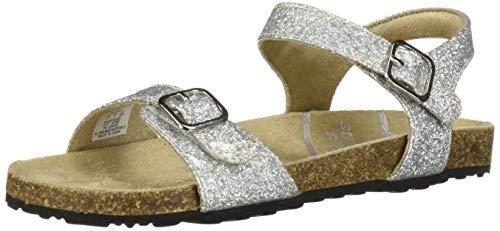 Stride Rite Zuly Girl's Buckle Sandal, Platinum, 8 M US - Footwear Buckle