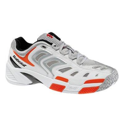 Babolat blanco Team Clay III zapatillas de tenis de plata para Hombre 44 1/Orange 2