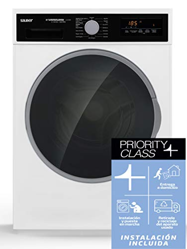 Sauber – Lavadora Secadora LS2096 9/6 kg – 1400 RPM – A – Color Blanco – INSTALACIÓN INCLUIDA