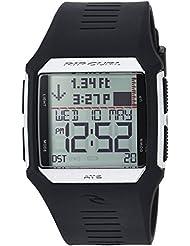 Rip Curl Mens Rifles Quartz Plastic and Polyurethane Sport Watch, Color:Black (Model: A1119-SIL)