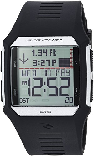 Rip Curl Men's 'Rifles' Quartz Plastic and Polyurethane Sport Watch, Color:Black (Model: A1119-SIL)