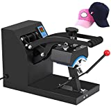 Mophorn Hat Press Machine 3.5X5.9 Inch Cap Press Heat Press Machine Professional Transfer Hat Press with 12000 Hours Life Digital LCD Timer and Temperature Control (350W)