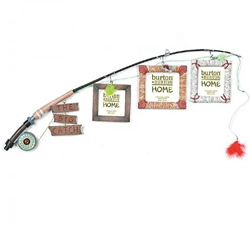 The Big Catch Fly Fishing Pole Photo Picture Holder Frame Themed Decor; (Fishing Pole Picture)