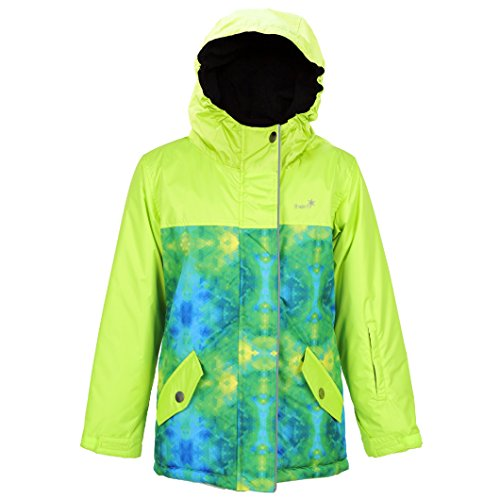 Therm Fully Insulated Snowrider Ski Jacket  Wind and Waterproof Lime 5 (Kids Boys Ski Jacket)