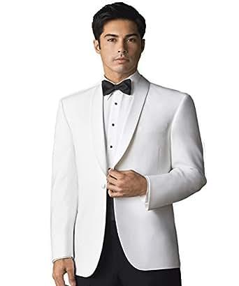 Men's Elegant White Dinner Jacket at Amazon Men's Clothing ...