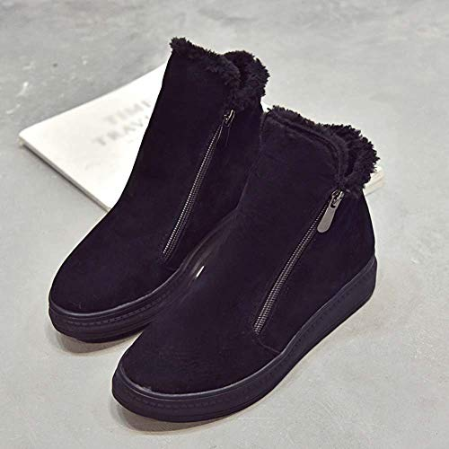 Planos De Deporte Para Botas Cuñas Mujer Tacones Invierno Amlaiworld Zapatos Deportivo Calzado Botines Mujer Interiores Niña Negro Bajos vqUdqSw