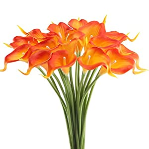 GTIDEA 20PCS Artificial Calla Lily Flowers 86