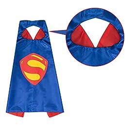 - 41LkSGvmaXL - YOHEER Dress Up Costume Set of Superhero Satin Capes with Felt Masks for Kids