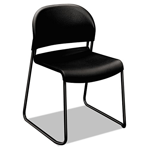 4030 Series Armless Stacking Chair Seat Finish: Black by HON