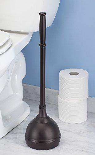 mdesign bathroom toilet bowl brush and plunger set of 2 bronze. Black Bedroom Furniture Sets. Home Design Ideas