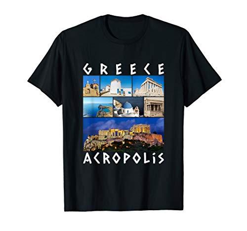 Greece Acropolis T-Shirt famous sights gallery Souvenir (Vacation Greece)