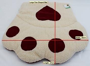 Amazon.com: Diseño con huella de perro/gato cama, cojín ...