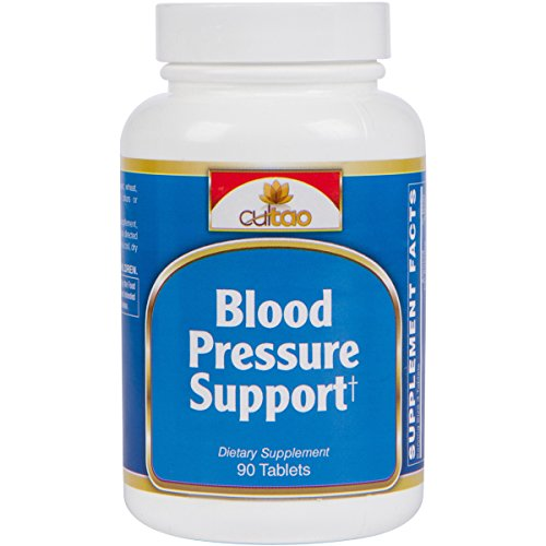 Premium Blood Pressure Support Supplement w/ European Standardized 1.8% Hawthorn Berry Extract, Forslean®, Taurine, Hops Strobiles And Magnesium - 90 Tabs - Vegetarian Formula