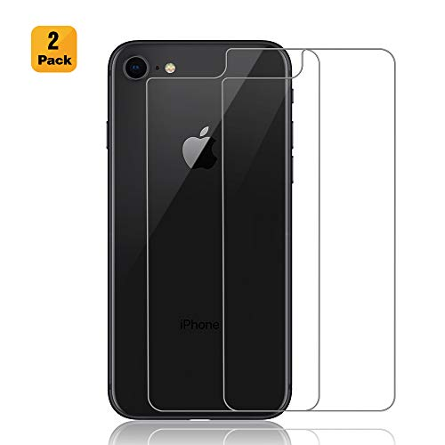 (Maxdara iPhone 8 Back Tempered Glass Screen Protector Ultra Thin Touch Accurate Anti Scratch Cover Rear Glass Protector Case Friendly Lifetime Replacements for iPhone 8 4.7 inches (2 Pack))