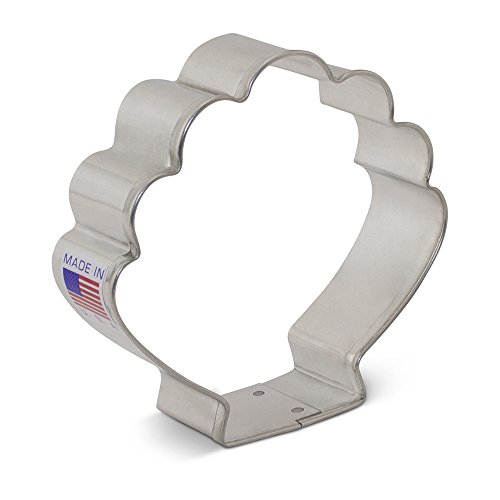 Seashell Cookie Cutter - 3.25 Inch - Ann Clark - US Tin Plated Steel - Memory Company Cutting Board