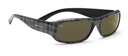 257058441ec4 Amazon.com: Serengeti Genova Sunglasses (Gray Plaid 555nm Polarized ...