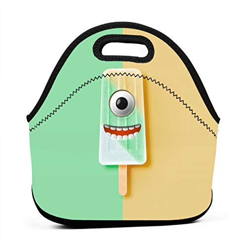 Pattonef Funny Emoticon On Realistic Icecream Customized Neoprene Bento Bag Waterproof Insulated Men and Women Working Picnic Trip
