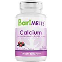 BariMelts Calcium Citrate, Dissolvable Bariatric Vitamins, Smooth Berry Flavor, 120 Fast Melting Tablets