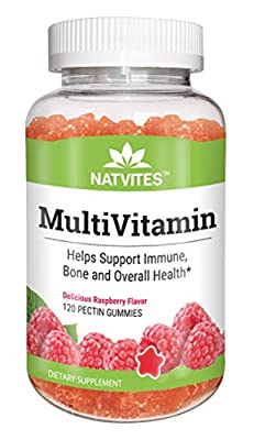 Natvites Multivitamin and Multimineral Pectin Gummies for Adults 120 Count