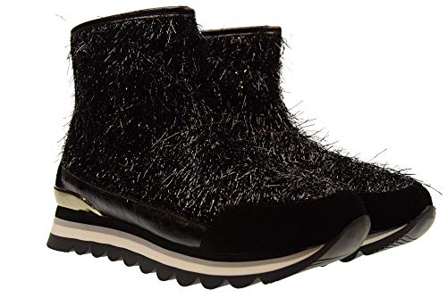 Lurex Bottines Fermeture 46567 Femme éclair Black Chaussures Gioseppo TxqYOO
