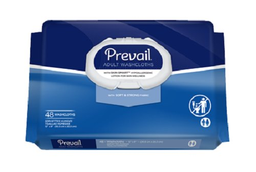 Prevail Washcloths, Large, 48 Washcloths (Pack of 2)